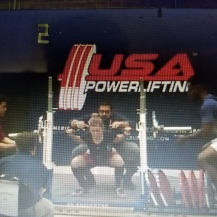 Autumn squatting in her first powerlifting meet (April 2016)