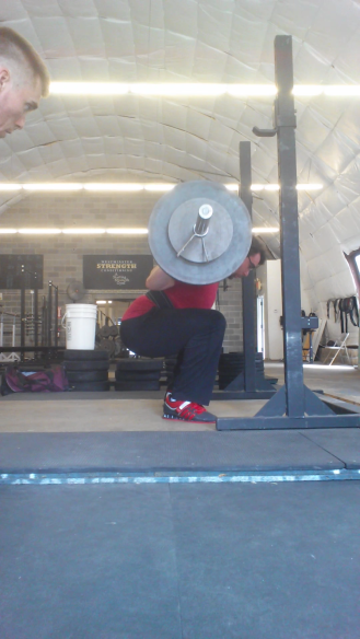 Shiv squatting 275lbs for 5.